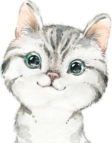 Gyerek festmény - Kis cica 50 x 40 cm