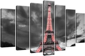 Vászonkép Vörös Eiffel-torony 140x80cm 926A_7B