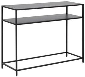 Stílusos konzolasztal Layton 100 cm fekete