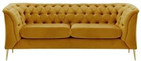 2,5 személyes chesterfield kanapé, mustársárga - ROYALISSIME