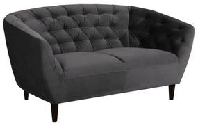 Ria sötétszürke bársony kanapé, 150 cm - Actona