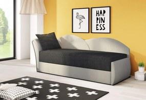 RICCARDO kinyitható kanapé, 200x80x75 cm, fekete + szürke, (alova 04/alova 10), balos