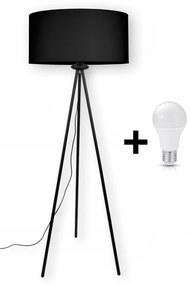 Glimex Abazur állólámpa fekete 1x E27 + ajándék LED izzó