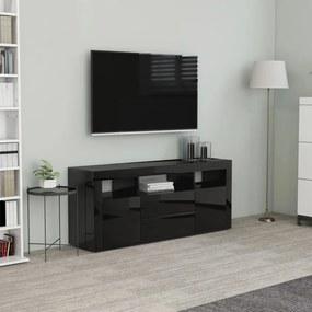 vidaXL magasfényű fekete forgácslap TV-szekrény 120 x 30 x 50 cm