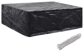 vidaXL takaróponyva kerti bútorra, 8 fűzőlyukkal, 250 x 210 x 90 cm
