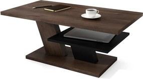 CLIFF MAT barna tölgy / fekete, dohányzóasztal