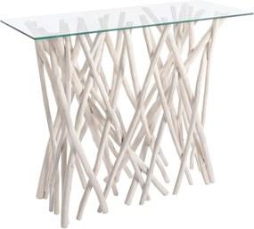 SAHEL konzolasztal üveggel