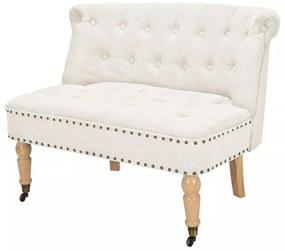 vidaXL fehér szövet, 2-személyes kanapé 94 x 67 x 76 cm