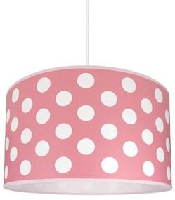 Lampdar Gyereklámpa DOTS PINK 1xE27/60W/230V SA0306