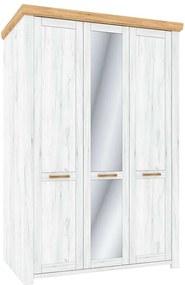 Sudbury K199,7_137,9 Szekrény tükörrel - fehér-tölgy