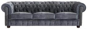 Norwin Velvet háromszemélyes szürke kanapé - Max Winzer