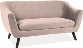Kétszemélyes kanapé, bézs MOLLY 2 VELVET