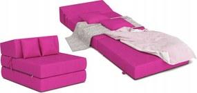 Matracesen Összehajtható fotelágy 200x70 Rózsaszín