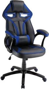 SBS Extreme X2 Gamer szék nyak- és derékpárnával - fekete-kék