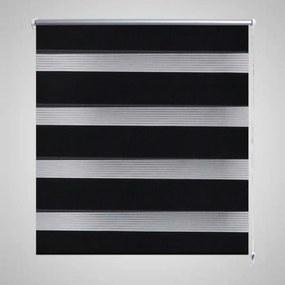 vidaXL Zebra roló 50 x 100 cm Fekete