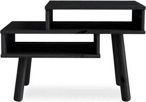 Haku fekete borovi fenyő dohányzóasztal - Karup Design