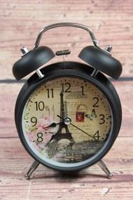 Fekete óra állványon MINTA 3. (m. 17 cm, á. 11,5 cm) - provence