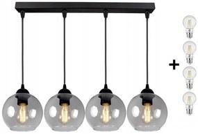 Glimex Orb állítható függőlámpa füst 4x E27 + ajándék LED izzó