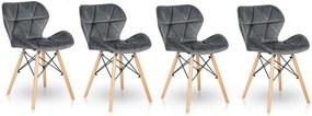 Bársony szék készlet STONE 3+1 INGYEN!