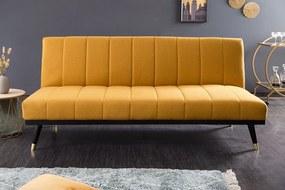 Design ágyazható ülőgarnitúra Halle 180 cm mustársárga