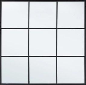 NUCLEOS ablakos fekete keretes tükör
