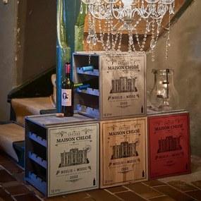 VINOTHEK boros polc szürkés-barna 36x32x39cm