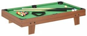 Barna és zöld mini biliárdasztal 92 x 52 x 19 cm
