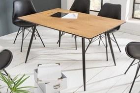 Stílusos étkezőasztal Nathalie 140 cm tölgy