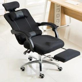 Menedzser szék Lábtartóval, Fekete - Ultra kényelmes irodai forgószék!