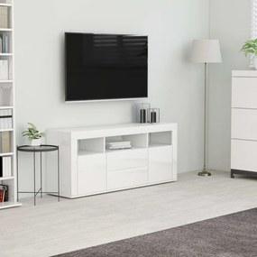 vidaXL magasfényű fehér forgácslap TV-szekrény 120 x 30 x 50 cm