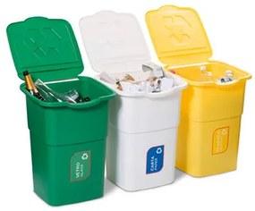 Szemétkosár szelektív hulladékgyűjtésre Eco 3 Master 50 l, 3 db