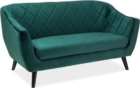 Kétszemélyes kanapé zöld/wenge MOLLY 2