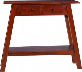 Klasszikus barna tömör mahagónifa tálalóasztal 90 x 30 x 75 cm