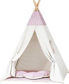 TP Teepee sátor - rózsaszín csillagok