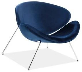 GENERAL Velvet fotel, 84x72x49, bluvel 86/króm