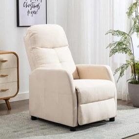 Krémszínű szövet dönthető fotel