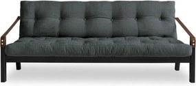 Poetry Black/Slate Grey sötétszürke kinyitható kanapé - Karup Design