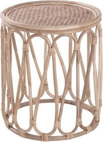 LOMBOK bambusz kisasztal Ø40cm