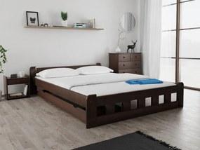 Naomi magasított ágy 160x200 cm, diófa Ágyrács: Deszkás ágyráccsal, Matrac: Somnia 17 cm matraccal