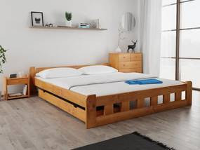 Naomi magasított ágy 180x200 cm, égerfa Ágyrács: Deszkás ágyráccsal, Matrac: Deluxe 15 cm matraccal
