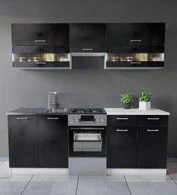 Color konyhabútor 210 cm Fekete