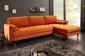 Sarok ülőgarnitúra Adan II 260 cm rozsdásbarna bársony