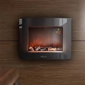 Fali dekoratív kandalló Cecotec Warm 2600 Curved Flames 2000W