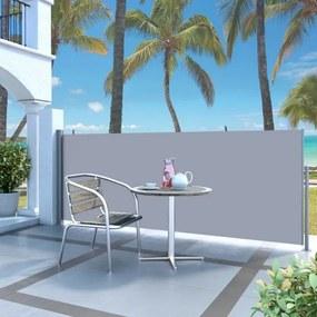 Krémszínű behúzható oldalsó napellenző 120 x 300 cm