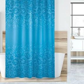 Mozaik zuhanyfüggöny, kék, 180 x 200 cm