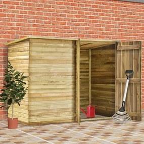 vidaXL impregnált fenyőfa kerti fészerház 232 x 110 x 170 cm