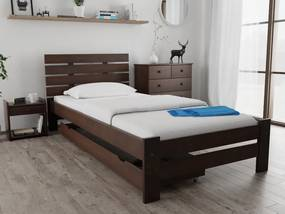 Magnat NANCY ágy 80x200 cm, diófa Ágyrács: Ágyrács nélkül, Matrac: matrac nélkül