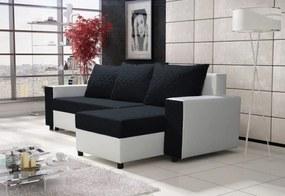 SYLVIA sarok ülőgarnitúra, 240x131 cm, sawana Caro+MG textilbőr, sawanaCaro14_MGfehér