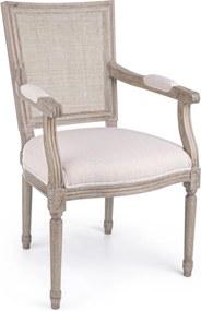 LILIANE bézs szék karfával