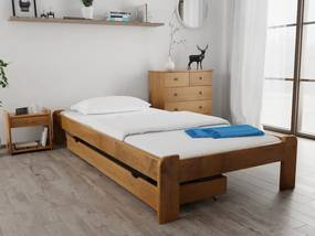 Magnat ADA ágy 180x200 cm,tölgyfa Ágyrács: Ágyrács nélkül, Matrac: Coco Maxi 23 cm matraccal